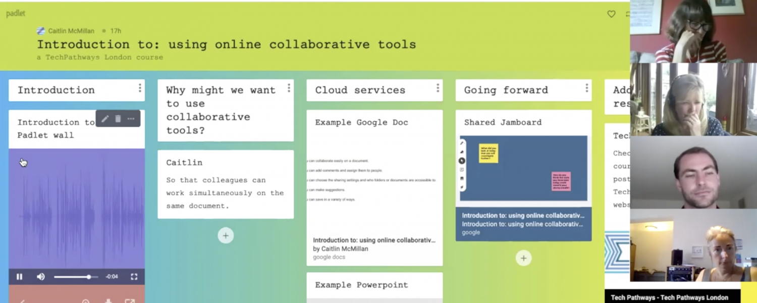 Recorded Session – using online collaborative tools